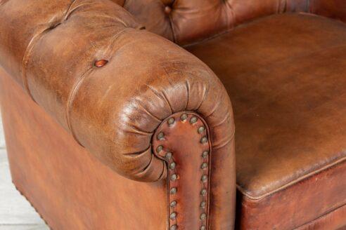 Skórzany fotel Chesterfield - Orange Tree meble indyjskie