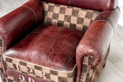 Fotel skórzany loft - Orange Tree meble indyjskie
