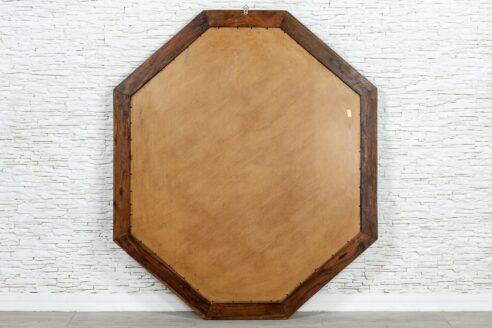 Oktagonalna rama z lustrem zdobiona kością - Orange Tree meble indyjskie
