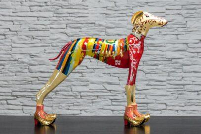 Kolorowy pies - metaloplastyka 3