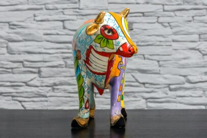 Kolorowa krowa z łąkami 3