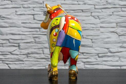 Kolorowa krowa z łąkami 5