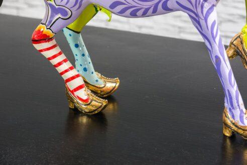 Kolorowy konik w złotych butach 5