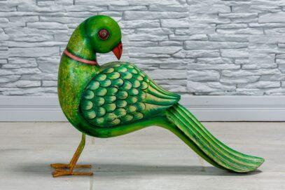 Zielona papuga drewniana 1