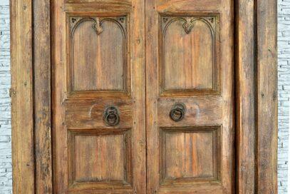 Stare drzwi tekowe 4