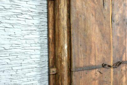 Stare drzwi tekowe 9