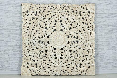 Bielony panel z ażurową mandalą 160cm 1