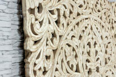 Bielony panel z ażurową mandalą 160cm 3