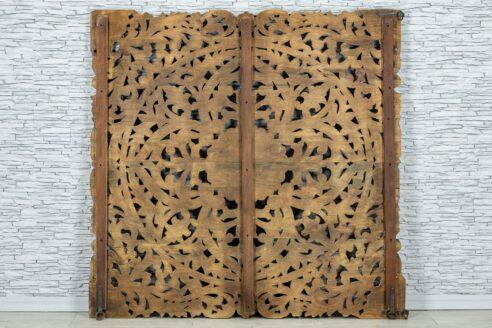Bielony panel z ażurową mandalą 160cm 4