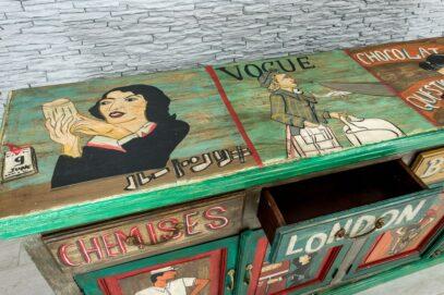 "Kolorowa komoda ""vintage cartoon"" 5"