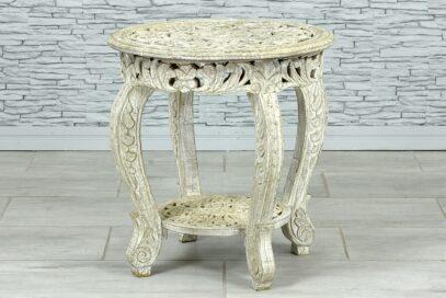 Okrągły stolik z ażurowymi blatami 1