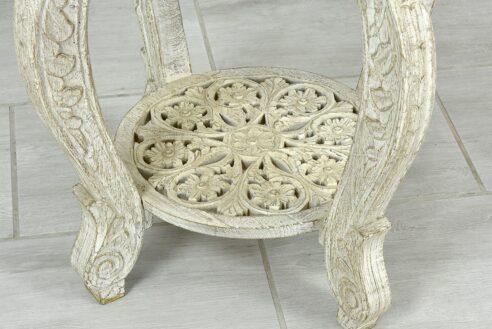 Okrągły stolik z ażurowymi blatami 2