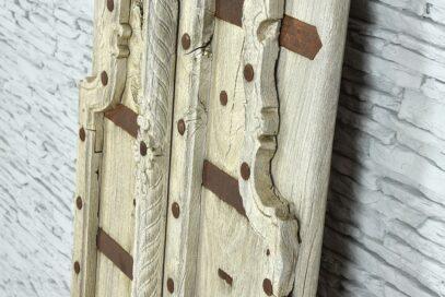 Stare tekowe drzwiczki z bezbarwnego teku 4