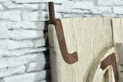 Stare tekowe drzwiczki z bezbarwnego teku 5