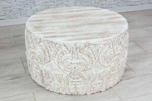 """Okrągły bielony stolik """"Himalaya"""" 2"""