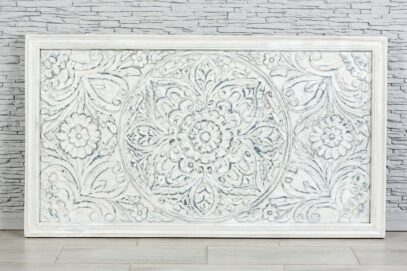 Bielony panel z rzeźbioną mandalą 160x90cm 1