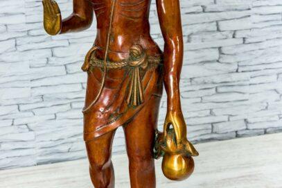 Mosiężna figurka młodego buddysty 81cm 10