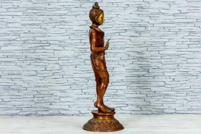 Mosiężna figurka młodego buddysty 81cm 3