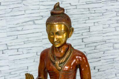 Mosiężna figurka młodego buddysty 81cm 9