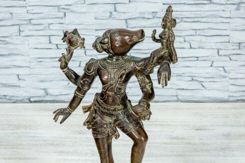 Mosieżna figurka Varaha 45cm 10
