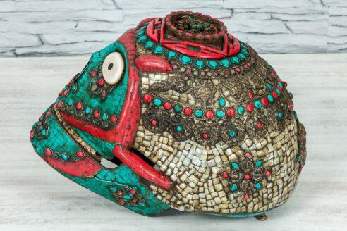 Kolorowa czaszka z Jaipuru 3