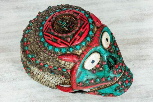 Kolorowa czaszka z Jaipuru 5