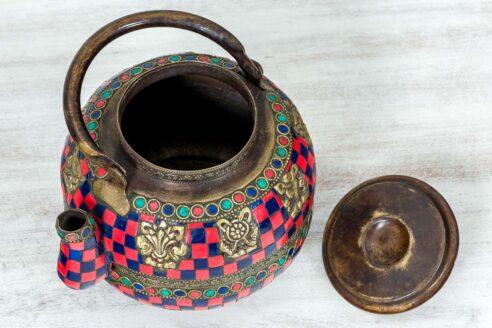Kolorowy imbryk z Jaipuru 3