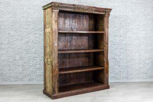Duży regał biblioteka ze starymi elementami 2